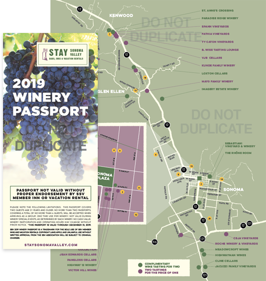 Free Winery Passport - Sonoma Valley Escapes